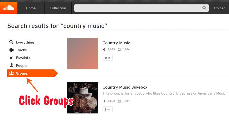SoundCloud Groups