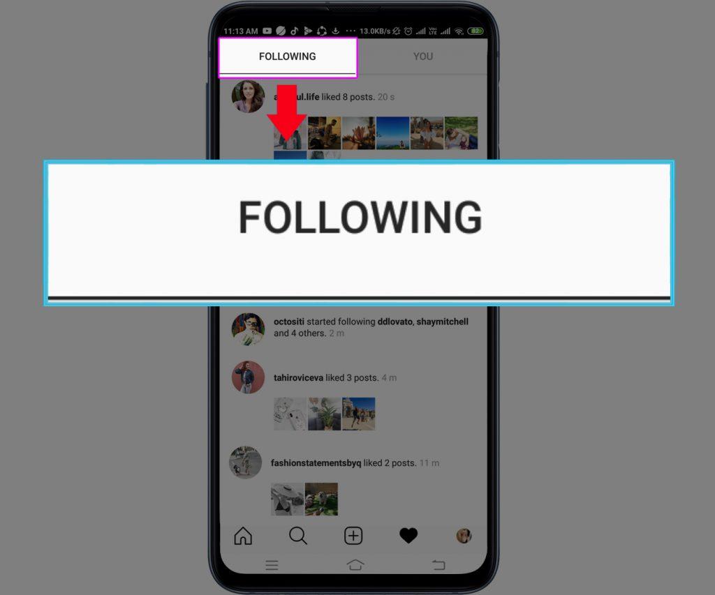 Tap Following