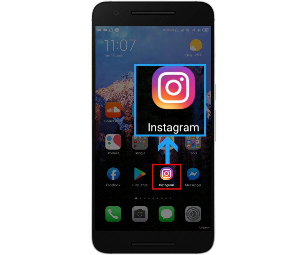 Open your Instagram application